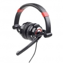 Gembird stereo headphones 5.1 with microphone and volume control, USB, black-red