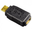 HAMA Compact USB Adapter micro USB plug - mini USB socket