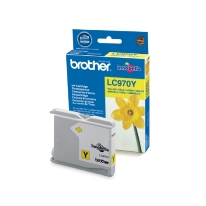 Rašalo kasetė Brother LC970Y yellow   300psl   DCP135/ DCP150/ MFC235/ MFC260