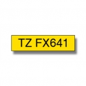 Brother TZE-FX641, 18mm, black on yellow flexi tape