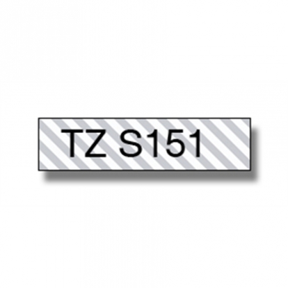 Brother TZe-S151, Strong 24mm black on clear flexible tape