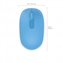 Microsoft Wireless Mbl Mouse 1850Win7/8 EN/AR/CS/NL/FR/EL/IT/PT/RU/ES/UK EMEA EFR CyanBlue