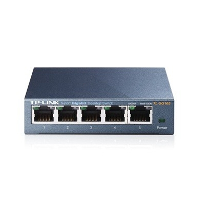 TP-Link TL-SG105 Switch 5x10/100/1000Mbps, Metal case, IEEE 802.1p QoS