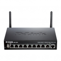 D-LINK DSR-250N, Wireless VPN Firewall, 1 10/100/1000Base-TX WAN Ports, 8 10/100/1000Base-TX LAN Ports, 802.11n 2.4GHz single band with 2 detachable