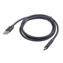 Gembird USB 2.0 cable to type-C (AM/CM), 1m, black