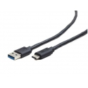 Gembird USB 3.0 cable to type-C (AM/CM), 1m, black